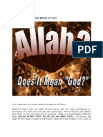 ALLAH IS NOT GOD THE KORAN IS NOT THE WORD OF GOD