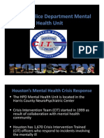Houston Police Department Mental Health Unit