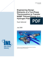 Engineering Design Elements of a Two-Phase Thermosyphon to Transfer NGNP Thermal Energy to a Hydrogen Pland