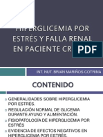 HIPERGLICEMIA POR ESTRÉS Y FALLA RENAL AGUDA EN PACIENTE CRITICO (1)
