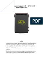 Manual de Usuario Para GSM Tracker TK-102