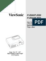 Manual PJ500 Viewsonic