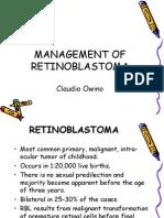 RETINOBLASTOMA, Dr Claudio Owino, Surgery