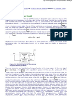 Basic Adaptive Filter Model