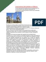 Importancia socioeconómica del petróleo en México