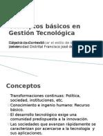 Conceptos básicos en Gestión Tecnológica