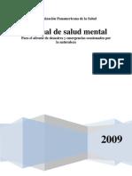 Manual Salud Mental Para Afronte de Emergencias Ocasionados Por La Naturaleza