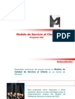 Modelo de Servicio Al Cliente en Un CSC