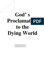 bertha dudde brochure 052 -  god s proclamation to the dying world