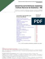 Lista dos conceitos estatísticos usados no INE - 2012
