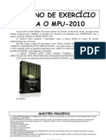 Questoes MPU 2010 Direito Administrativo Professor Granjeiro