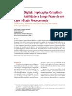 Sucção Digital_Implicações Ortodônticas e Estabilidade
