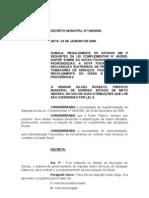 Decreto Municipal 006 - Regulamenta o Issqn e Institui a Nota Fiscal Eletrônica