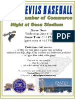 Pasco Chamber of Commerce Group Night Flyer
