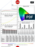 Sharp LC-60LE745U CNET review calibration results