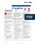 Survival - Emergency Preparedness Checklist