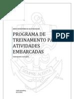 PROGRAMA DE TREINAMENTO PARA ATIVIDADES EMBARCADAS - VERSÃO 2.2