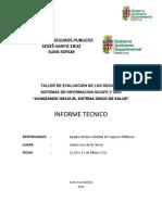 Informe Tecnico Taller de Evaluacion Mayo 2012