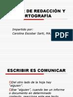 TALLER DE REDACCIÓN Y ORTOGRAFÍA
