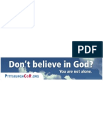Pittsburgh Coalition of Reason Ad
