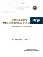 Documento 15 Maggio III D a.S. 2012