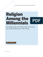 Religion among millennials