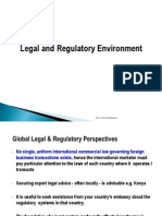3 Legal & Regulatory Environment