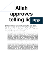 Allah Approves Telling Lies