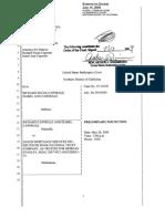 Order Injunction 14 July 2009