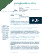 Government of Canada Report on Alertec (modafinil)