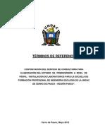 INSTALACIÓN DE LABORATORIOS PARA LA ESCUELA DE FORMACIÓN PROFESIONAL DE INGENIERÍA GEOLOGÍA DE LA UNDAC DE CERRO DE PASCO – REGIÓN PASCO