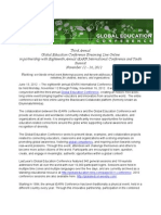 2012 Global Education Conference Press Release