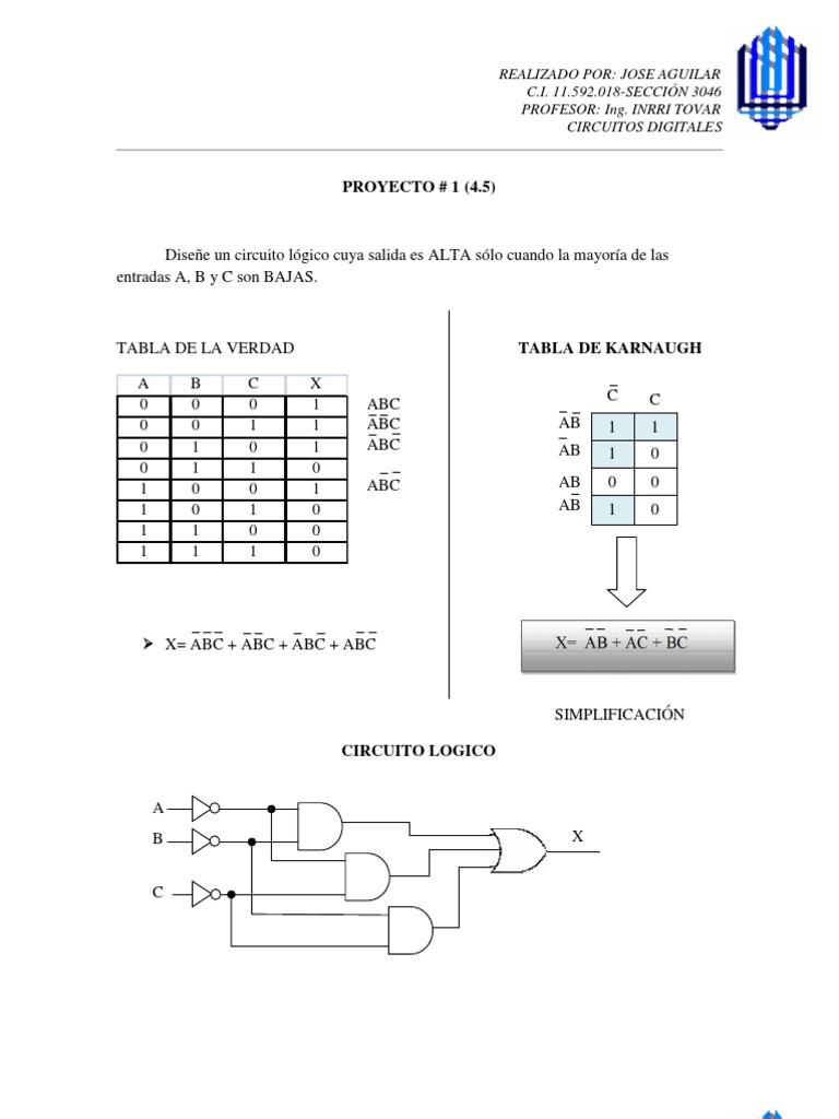 Circuito Logico : Proyectos de circuitos digitales