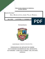 Ordenanza de Actividad Economica 2011 RIBAS