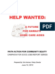 FACE Home Care Aide Report FINAL