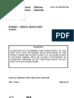 B-GL-332-004 Field Artillery Insert (2000)