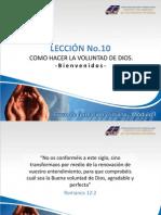 l10 Como Hacer La Voluntad de Dios