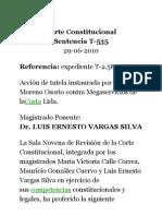 Corte Constitucional Minimo Vital