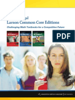 80402566 Holt McDougal Larson Common Core Editions Overview