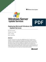 Deploying Microsoft Windows Server Update Services