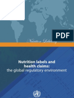 Nutrition Labels and Health Claims