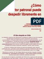 Libre Despido en Chile Articulo 161 Del Codigo Laboral