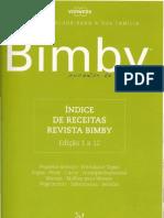 Revistas Bimby índice receitas 01 a 12