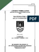 RPP MATEMATIKA 6 SMSTR1