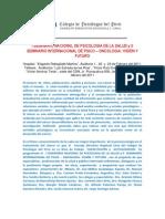 i Seminario Nacional de Psicologia de La Salud y Ll Seminario Internacional de Psic1