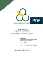Relatório_Exp6_Amplificadores de Potência_Fundamentos de eletrônica_Trim3.2