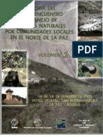 Primer Encuentro de Manejo de Recursos Naturales Vol. 2
