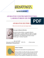 Aparatos e Instrumentos Para Laboratorios de Fisica