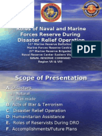 Roles of the Reserve Force During Calamities
