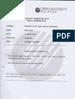 EMCA5103 Exam April 2012